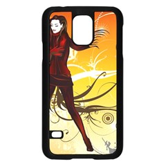 Girl Autumn Grass  Samsung Galaxy S5 Case (black) by amphoto