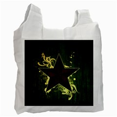 Star Dark Pattern  Recycle Bag (one Side) by amphoto
