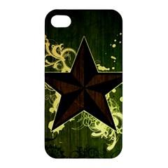 Star Dark Pattern  Apple Iphone 4/4s Premium Hardshell Case by amphoto