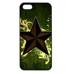Star Dark Pattern  Apple Iphone 5 Seamless Case (black) by amphoto