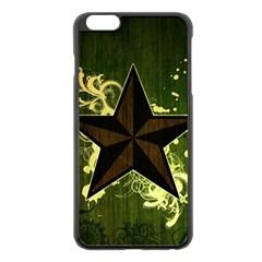 Star Dark Pattern  Apple Iphone 6 Plus/6s Plus Black Enamel Case by amphoto