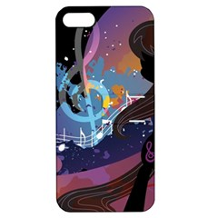 Black Octavia Stream Wall  Apple Iphone 5 Hardshell Case With Stand by amphoto