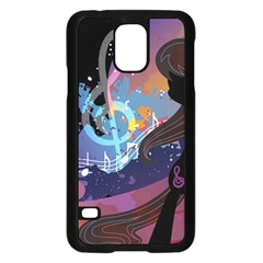 Black Octavia Stream Wall  Samsung Galaxy S5 Case (black) by amphoto