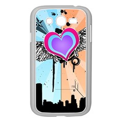 Couple Hugging Heart Samsung Galaxy Grand Duos I9082 Case (white) by amphoto