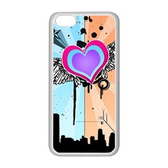 Couple Hugging Heart Apple Iphone 5c Seamless Case (white) by amphoto
