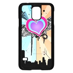 Couple Hugging Heart Samsung Galaxy S5 Case (black) by amphoto