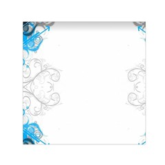 Patterns Blue White  Small Satin Scarf (square) by amphoto
