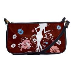 Girl Flowers Silhouette  Shoulder Clutch Bags by amphoto