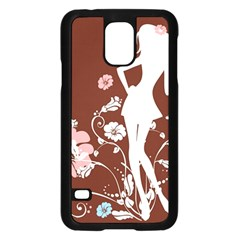 Girl Flowers Silhouette  Samsung Galaxy S5 Case (black) by amphoto