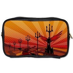 Wings Drawing Poles  Toiletries Bags 2 Side by amphoto