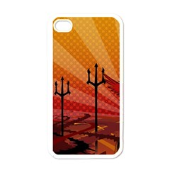 Wings Drawing Poles  Apple Iphone 4 Case (white) by amphoto
