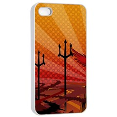 Wings Drawing Poles  Apple Iphone 4/4s Seamless Case (white) by amphoto