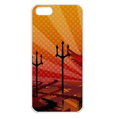 Wings Drawing Poles  Apple Iphone 5 Seamless Case (white) by amphoto