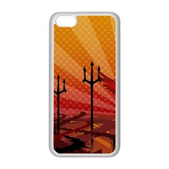 Wings Drawing Poles  Apple Iphone 5c Seamless Case (white) by amphoto