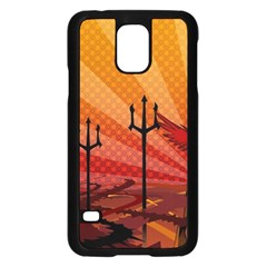 Wings Drawing Poles  Samsung Galaxy S5 Case (black) by amphoto
