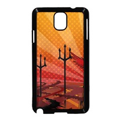 Wings Drawing Poles  Samsung Galaxy Note 3 Neo Hardshell Case (black) by amphoto