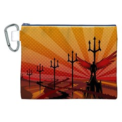 Wings Drawing Poles  Canvas Cosmetic Bag (xxl) by amphoto