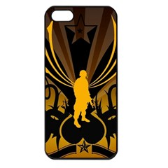 Soldiers Army Line  Apple Iphone 5 Seamless Case (black) by amphoto