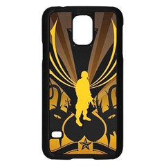 Soldiers Army Line  Samsung Galaxy S5 Case (black) by amphoto