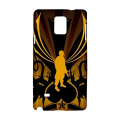 Soldiers Army Line  Samsung Galaxy Note 4 Hardshell Case by amphoto