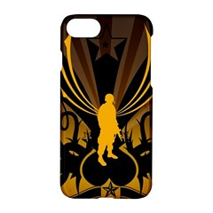 Soldiers Army Line  Apple Iphone 7 Hardshell Case by amphoto