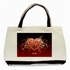 Heart Patterns Lines  Basic Tote Bag (two Sides) by amphoto