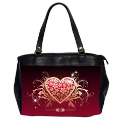 Heart Patterns Lines  Office Handbags (2 Sides)  by amphoto
