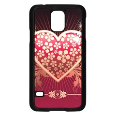 Heart Patterns Lines  Samsung Galaxy S5 Case (black) by amphoto