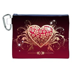 Heart Patterns Lines  Canvas Cosmetic Bag (xxl) by amphoto