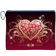 Heart Patterns Lines  Canvas Cosmetic Bag (xxxl) by amphoto