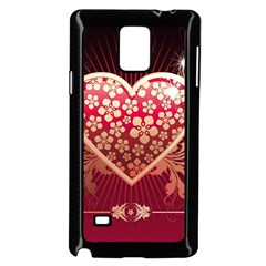 Heart Patterns Lines  Samsung Galaxy Note 4 Case (black) by amphoto