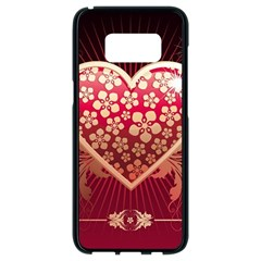 Heart Patterns Lines  Samsung Galaxy S8 Black Seamless Case by amphoto