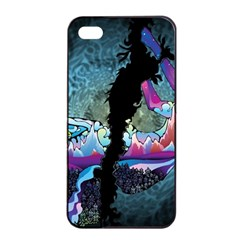 Girl Dress Fly  Apple Iphone 4/4s Seamless Case (black) by amphoto