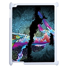 Girl Dress Fly  Apple Ipad 2 Case (white) by amphoto