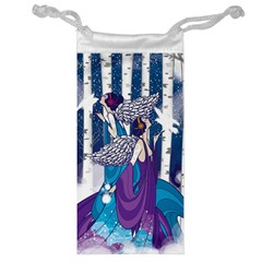 Girl Forest Trees Jewelry Bag by amphoto