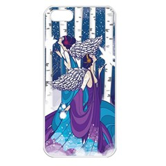 Girl Forest Trees Apple Iphone 5 Seamless Case (white) by amphoto