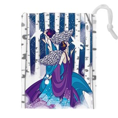 Girl Forest Trees Drawstring Pouches (xxl) by amphoto