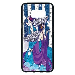 Girl Forest Trees Samsung Galaxy S8 Plus Black Seamless Case by amphoto