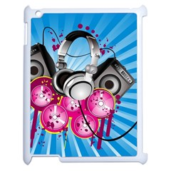 Speakers Headphones Colorful  Apple Ipad 2 Case (white) by amphoto