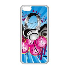 Speakers Headphones Colorful  Apple Iphone 5c Seamless Case (white) by amphoto