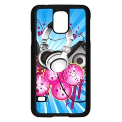 Speakers Headphones Colorful  Samsung Galaxy S5 Case (black) by amphoto