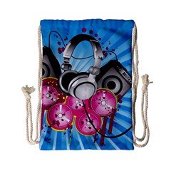 Speakers Headphones Colorful  Drawstring Bag (small) by amphoto