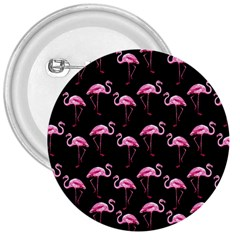 Flamingo Pattern 3  Buttons by Valentinaart