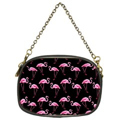 Flamingo Pattern Chain Purses (one Side)  by Valentinaart