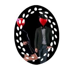 Love Ornament (oval Filigree) by Valentinaart
