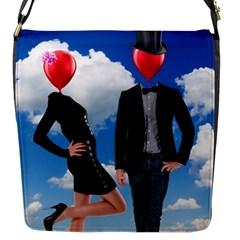 Love Flap Messenger Bag (s) by Valentinaart