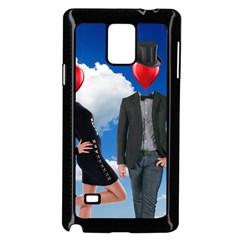 Love Samsung Galaxy Note 4 Case (black) by Valentinaart