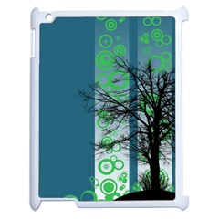 Tree Circles Lines  Apple Ipad 2 Case (white) by amphoto