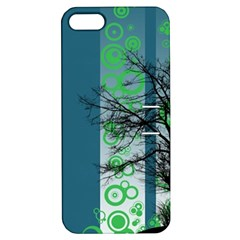 Tree Circles Lines  Apple Iphone 5 Hardshell Case With Stand by amphoto