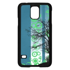 Tree Circles Lines  Samsung Galaxy S5 Case (black) by amphoto